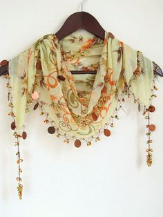 Traditional  Turkish Oya Scarf weddingbridalauthentic by asuhan, $22.00