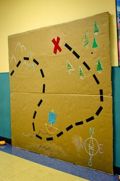 treasure map backdrop - cute for taking pictures