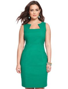 Brandi Sheath Dress from eloquii.com   One of the best places to get modern well made dresses for plus size women.  Own this dress and love it.