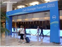 This was from one of our Type A Events conferences produced by T3.  T3 did a nice job of buiding on top of existing columns to create this installation.  Signage & Decoration Honorable Mention  T3 ExpoDell Storage Forum 2011 - Orlando Under 50,000 nsf