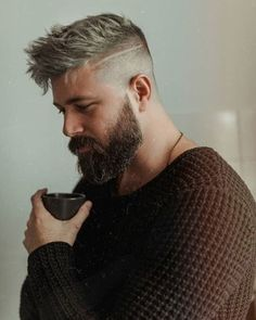 May your coffee be as strong as your beard game 🙏👊🔥 - Hair - Mens Hairstyles With Beard, Cool Hairstyles For Men, Boy Hairstyles, Haircuts For Men, Trending Hairstyles, Mens Undercut Hairstyle, Classic Mens Hairstyles, Celebrity Hairstyles, Ponytail Hairstyles