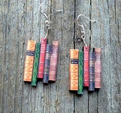 Classic novels earrings