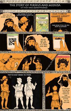 Classic Literature, Reimagined For The Smartphone Era   Classic Literature, Reimagined For The Smartphone Era - Perseus And Medusa
