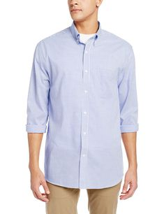 9492bf50b Men s Long Sleeve Epic Easy Care Tattersall Shirt - French Blue -  CX11GSFIUVJ