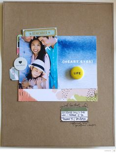 #papercrafting #scrapbook #layout - heart eyes by jamiewaters at @studio_calico