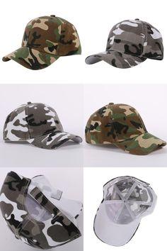 Visit to Buy  Men and Women Camouflage Half Mesh Army Hat Baseball Cap  Desert 16b54eb9d0f9