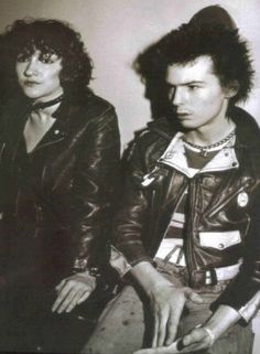 after Nancy's death and while Sid is on bond waiting to go on trial. he hooked up with Michelle Robinson the pic  shows Sid still in ' Pretty Vacant' mood. Description from punkrocker.org.uk. I searched for this on bing.com/images