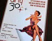 Dirty 30 Birthday Party Invitation