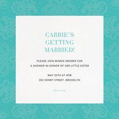 Online Invitations Bridal Shower