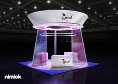 Nimlok specializes in portable modular trade show booths and healthcare exhibits. For Apligraf, we built a custom 20x20' booth solution to meet their needs.