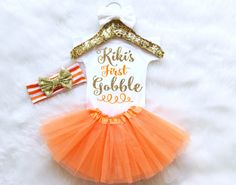 First Thanksgiving Outfit. Baby Girl First by MollieAndLola
