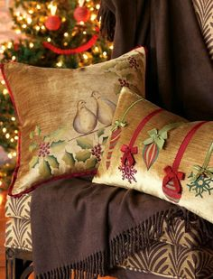 Eastern Accents - Luxury Bedding Collections, Custom Bedding, Bed Linens - Two Turtle Doves Christmas Cushions, Christmas Pillow, Christmas Home, Christmas Holidays, Christmas Crafts, Southern Christmas, Cottage Christmas, Family Holiday, Merry Christmas