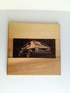 VW golf mk1 pyrography photo for wall house by WoodBurningStudio