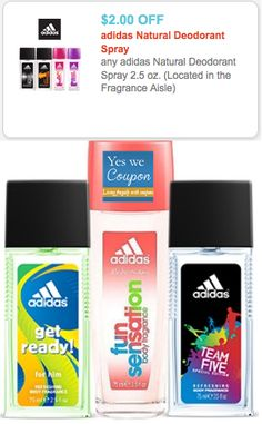 HOT $2/1 Adidas Deodorant Spray Coupon + Wal-Mart Deal! - http://yeswecoupon.com/hot-21-adidas-deodorant-spray-coupon-wal-mart-deal/