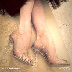 Dolce and Gabbana - Cinderella slippers Dita Von Teese