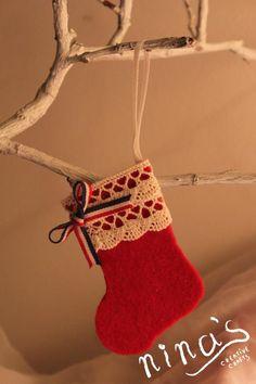 Felt Christmas stocking decoration