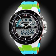 Men's Watches Sanwood Men Weave Nylon Band Arabic Numerals Dial Calendar Analog Quartz Wrist Watch In Pain