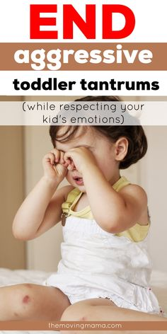 Learn here how to deal with toddler tantrums and even end the aggression that you're dealing with when your toddler has a tantrum. Toddler tantrums can be frustrating, but you can handle them while still respecting their emotions and using gentle parenting (without being permissive). Toddler Behavior, Toddler Discipline, Emotional Child, Terrible Twos, Toddler Stuff, Gentle Parenting, Calm Down, Children, Kids