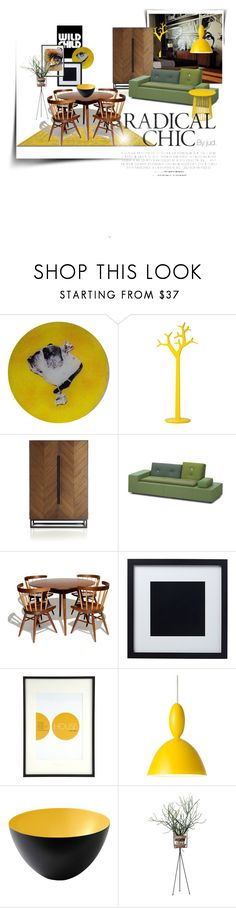 """Pop that yellow..."" by judaya ❤ liked on Polyvore featuring interior, interiors, interior design, home, home decor, interior decorating, Mitchell Gold + Bob Williams, Swedese, Autoban and Crate and Barrel"