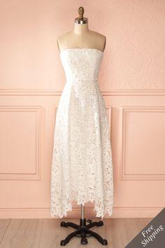 Elle pensait à lui tout le temps, tous les jours. C'était inévitable!    She was thinking about him all the time, every day. It was inevitable! White lace dress www.1861.ca