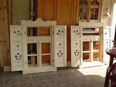 House Shutters, Window Shutters, Barbecue Garden, Old Country Houses, Cute Cottage, Cottage Exterior, Candle Wall Sconces, Rustic Interiors, Windows