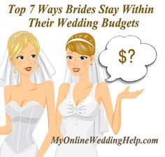 How to stay within a wedding budget