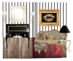 """MODERN VERSAILLES"" by childofgod-97 ❤ liked on Polyvore featuring interior, interiors, interior design, home, home decor, interior decorating, Safavieh, Forum, Eichholtz and MacKenzie-Childs"