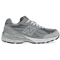 New Balance W990GL3 Sneakers (925 SEK) ❤ liked on Polyvore featuring shoes, sneakers, heather grey, new balance sneakers, new balance, new balance footwear, new balance shoes and new balance trainers