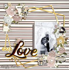 Our Love Disney Engagement, Beach Engagement, Scrapbooking Layouts, Scrapbook Pages, Wedding Album, Wedding Photos, Image Layout, Striped Background, Wedding Scrapbook