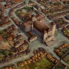 Recreacion virtual Santiago en el siglo XIII