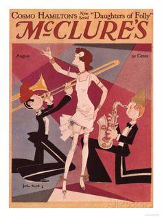 McClure's Magazine, August 1927 (Cover art by John Held Jr)