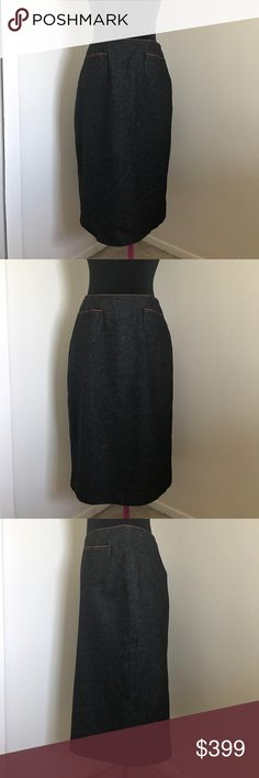 """Rare 90s Longchamp midi skirt Authentic and rare Longchamp midi skirt. Preloved in pristine condition. A beautiful addition to your closet. Length is 25"""" Longchamp Skirts Midi"""