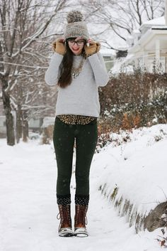 kind of wish it would snow, just so I could look like this...