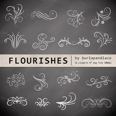 hand drawn flourish in corner - Google Search