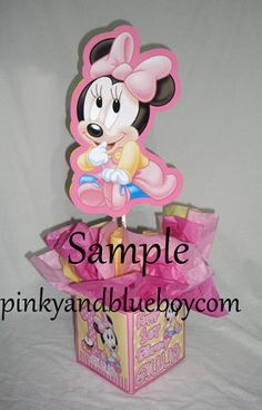 DIY small 12 Baby Minnie Mouse Birthday by PinkyandBlueBoyParty, $10.00