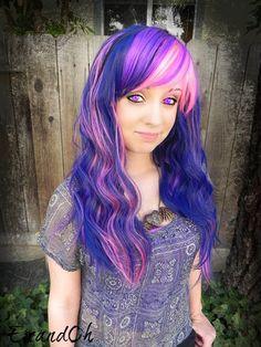 20 OFF SALE Twilight Sparkle / Purple Blue Pink / Long by ExandOh, $83.30