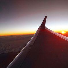 #upinthesky #flying back #home #sunset #clouds #dfw #sju