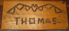 Customizable Halloween Sign.  Add Your custom text to this twig sign!
