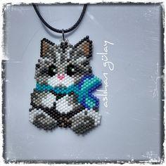 #peyotestitch #seedbeads #beads #perline #delice #miyuki #pendant #brickstitch #perlesmiyuki #beadedcat #cat