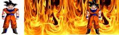 goku en fuego