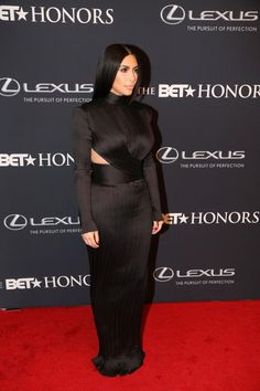 Kim Kardashian's Best Red Carpet Dresses of 2015 - Custom Balmain at the BET Awards