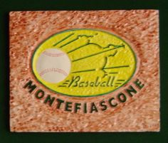 Trofeo di Baseball Mattonella in gesso ceramico