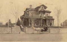Although W.H. Jackson is best known for his scenic photographs of Colorado, he also captured a great number of historic buildings on film. In the late 1890's he did a series on the mansions in the Capital Hill area of Denver. This one is the Horace Tabor home at 1260 Sherman St. Photo from the Denver Public Library Western History Collection