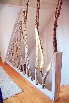 Birch Wood Stair Banister