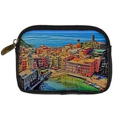 #Seaside houses #boats liguria vernazza italy padded digital #camera case black l,  View more on the LINK: http://www.zeppy.io/product/gb/2/361195810497/