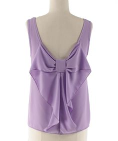 Lilac Bow-Back Tank | Coveted Clothing