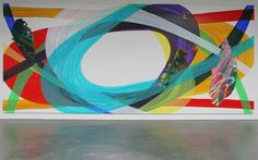 Katharina Grosse – Zonder Titel – Acrylverf op doek 2009