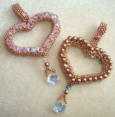 Items similar to Valentine's Heart Crystal / Pearl Pendant Tutorial on Etsy I Love Jewelry, Heart Jewelry, Crystal Jewelry, Beaded Earrings, Beaded Jewelry, Beaded Bracelets, Diy Jewelry, Jewelry Making, Necklaces
