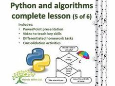 Python and Algorithms Complete Lesson 5 of 6 (GCSE Computer Science and KS3 Computing) by nwilkin - Teaching Resources - Tes