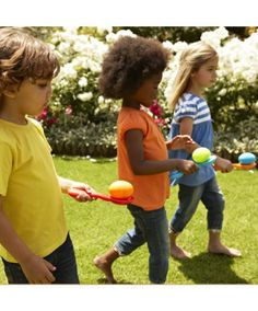 Egg and Spoon race. A bit of fun for the kids. Sports Day Ideas